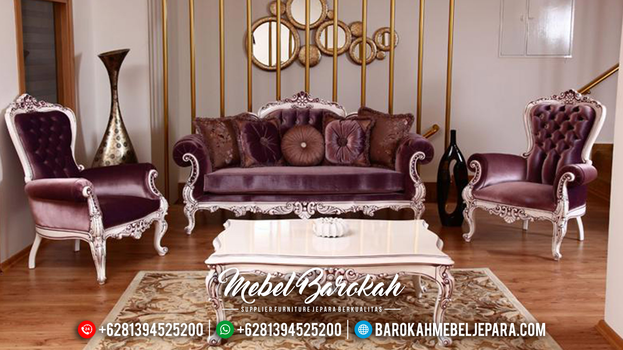 Big Sale Sofa Tamu Jepara Luxury Carving Mebel Jepara Terbaru MB-0578