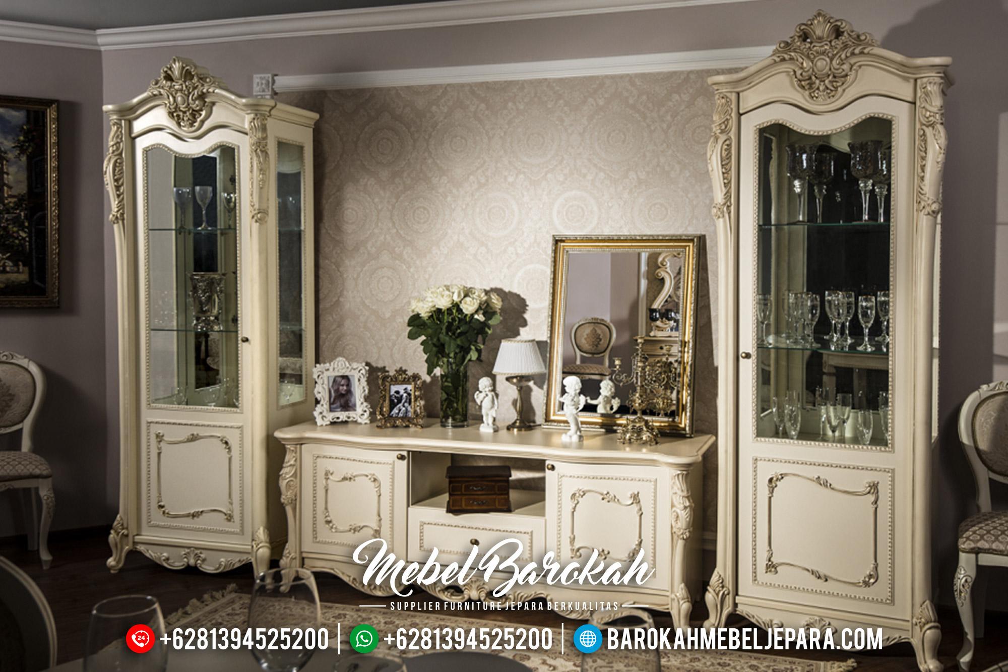 Carlotte Design Bufet TV Mewah Luxury Carving Glamorous Model Mebel Jepara MB-0566