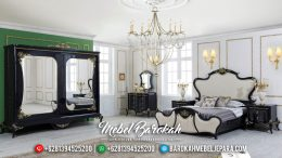 Classic Design Tempat Tidur Mewah Ukiran Luxury Black Edition Duco Color MB-0558
