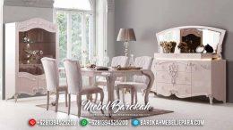 Desain Meja Makan Ukiran Mewah Luxury Supperior Glamorous Interior MB-0555