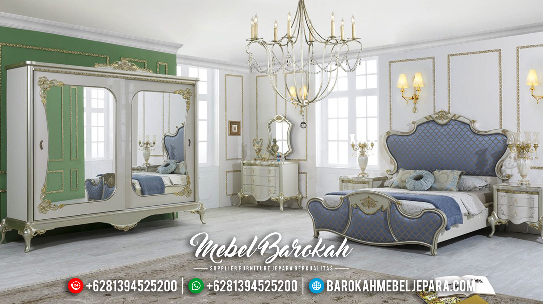 Desain Set Tempat Tidur Mewah Ukiran Luxury Jepara Pre Sale MB-0559