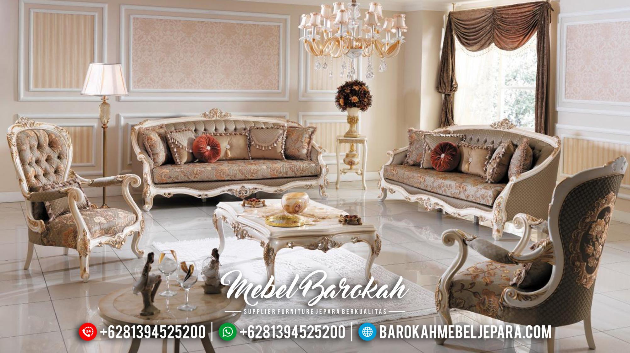 Elegant Sofa Tamu Mewah Terbaru Luxury Carving Mebel Jepara MB-0574