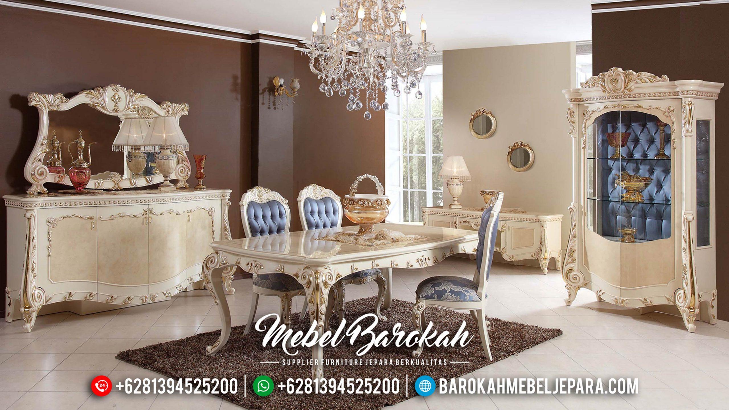 Elite Design Meja Makan Mewah Jepara Luxury Carving Best Seller MB-0571