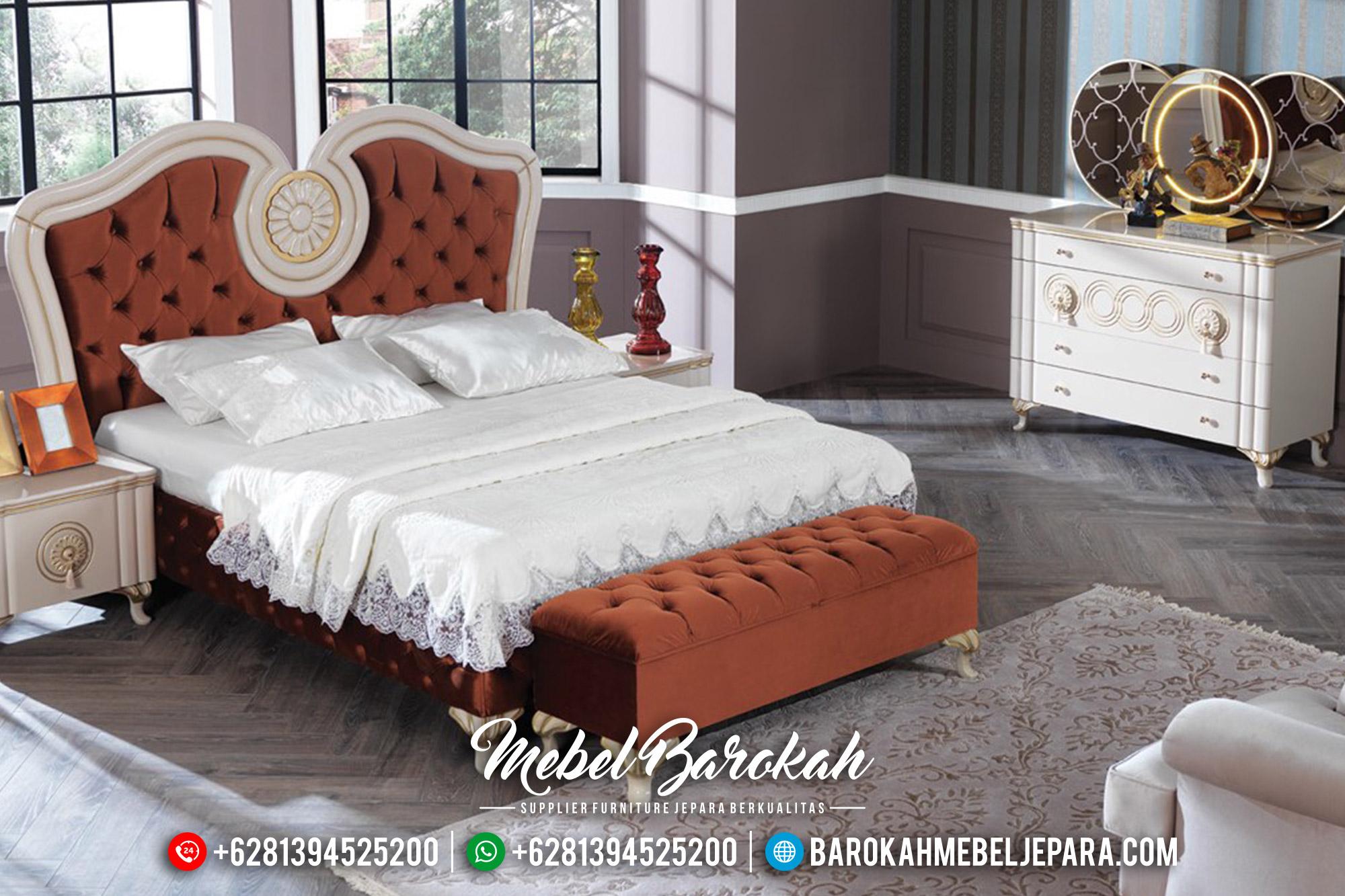 Get Now Tempat Tidur Mewah Jepara, Kamar Set Putih Duco Glossy Luxury MB-0543