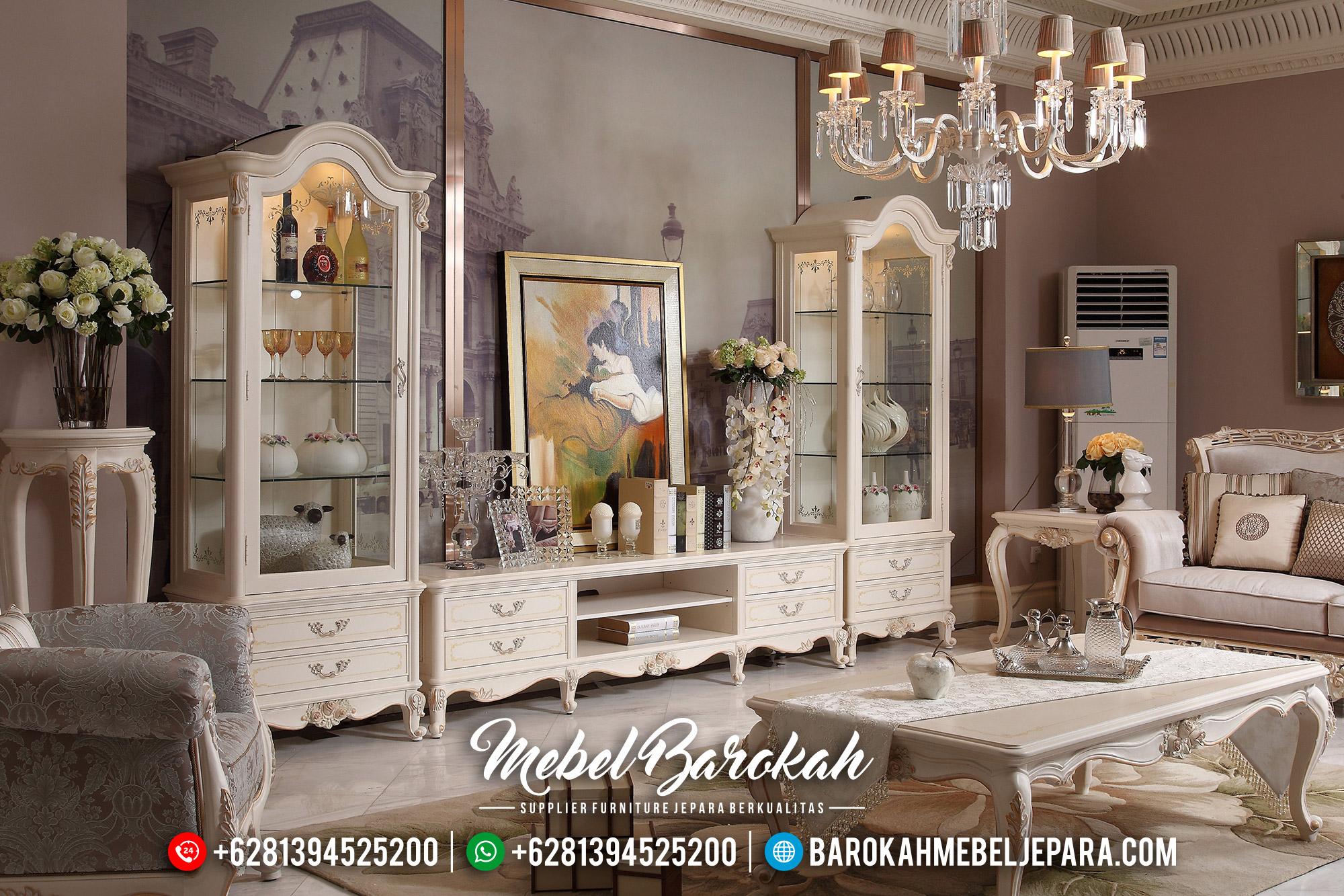 Harga Bufet TV Mewah Ukiran Jepara Luxury Classic New Louvre Style MB-0564