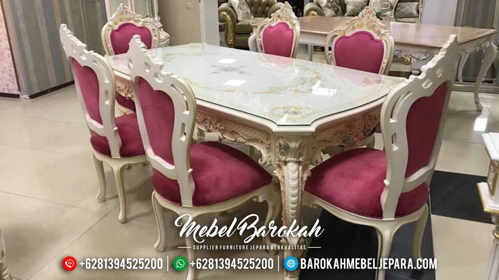 Harga Meja Makan Mewah Jepara Luxury Carving Koltuk Design Antique MB-0553