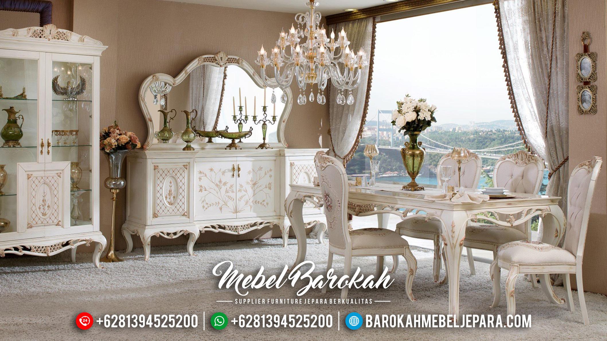 Jual Meja Makan Mewah Ukir Jepara Luxury Classic New Maggiolini Style MB-0572