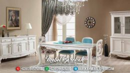 Jual Meja Makan Minimalis Terbaru Best Seller Ukiran Simple Furniture Jepara Luxury MB-0551