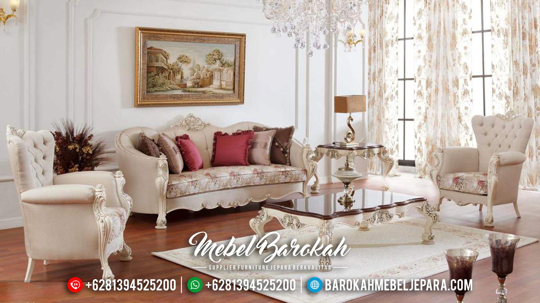 Jual Sofa Tamu Mewah Terbaru Luxury Carving New Model Mebel Jepara MB-0546