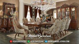 Meja Makan Mewah Ukiran Luxury Jepara New Design Best Quality Murah Meriah MB-0533