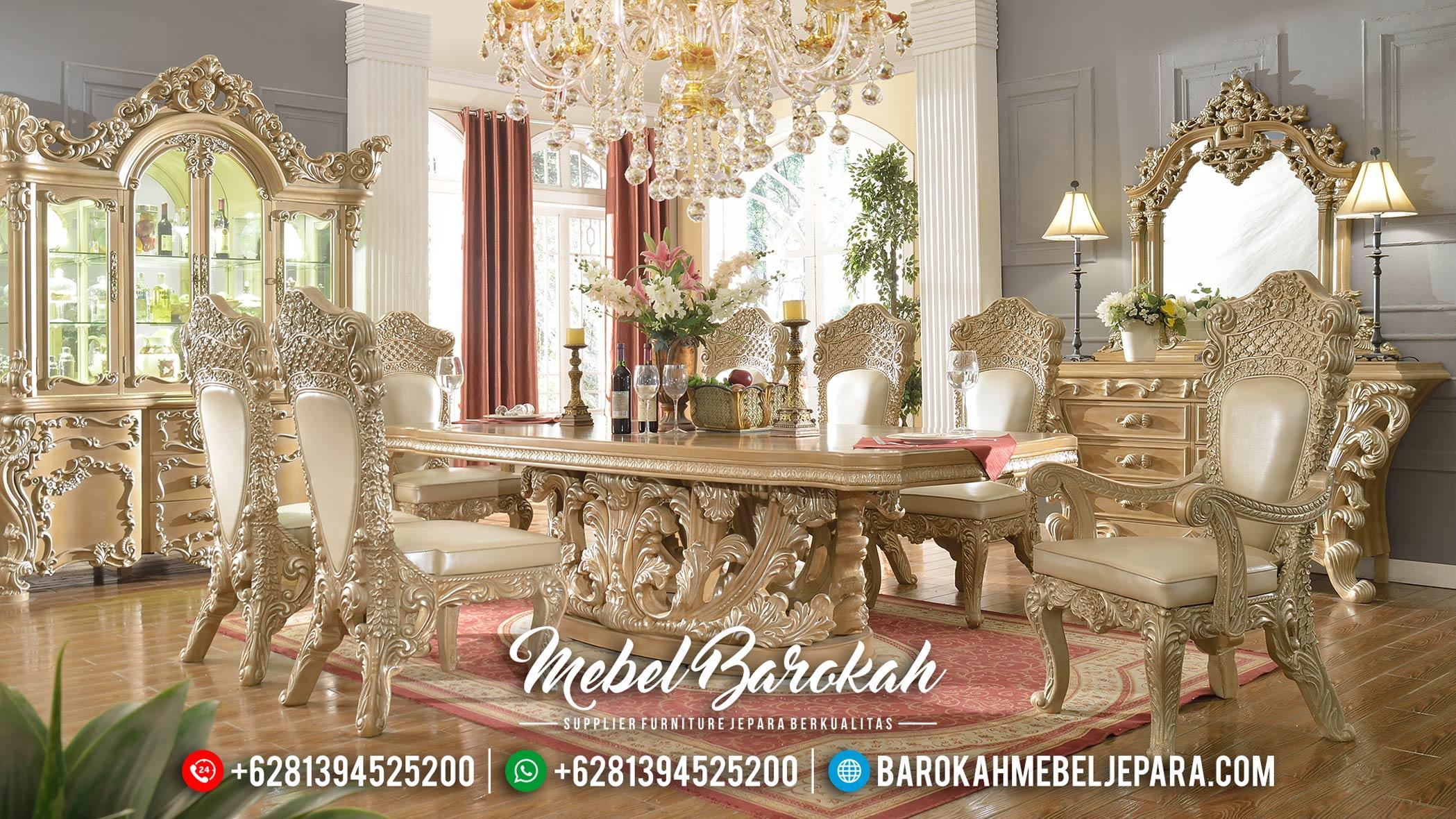 New Desain Meja Makan Mewah Ukiran Jepara Luxury Classic Unique Style MB-0534