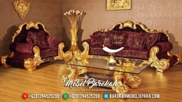New Model Sofa Tamu Mewah Jackson Ukiran Custom Luxury Gold Sunshine MB-0528