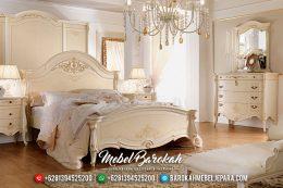 Pre Order Tempat Tidur Mewah Jepara Luxury Elite Design White Ivory MB-0584