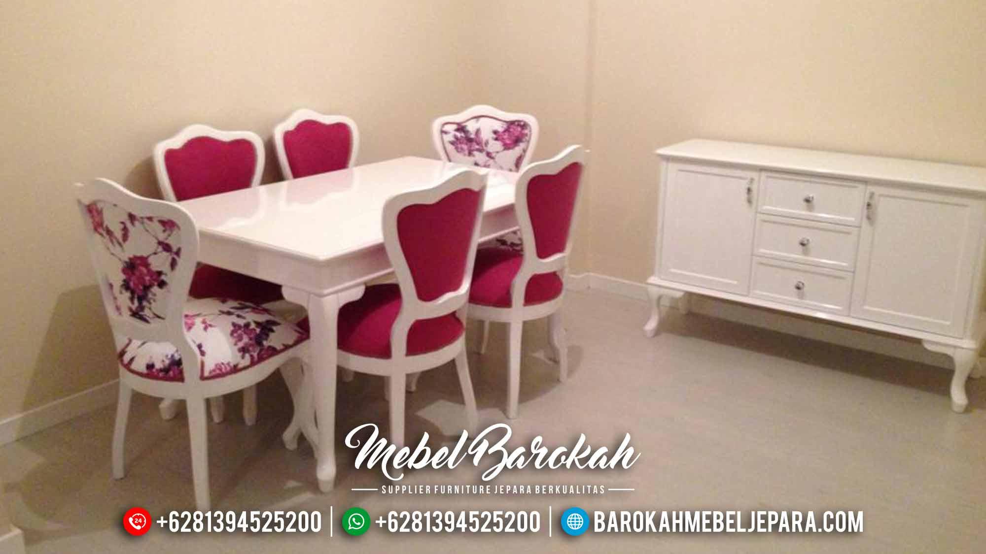 Sale Meja Makan Minimalis Putih Shabby French Style Mebel Jepara Luxury MB-0549
