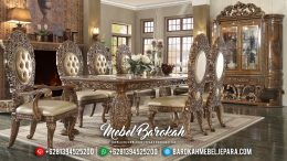 Set Meja Makan Ukiran Jepara Mewah Luxury Great Quality Mebel Jepara MB-0569