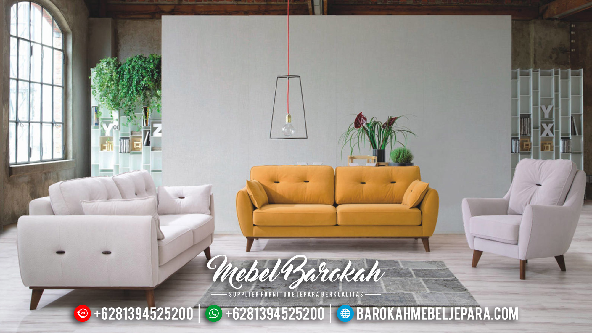 Set Sofa Tamu Minimalis Jati Natural Luxury Classic Vintage Jepara MB-0531