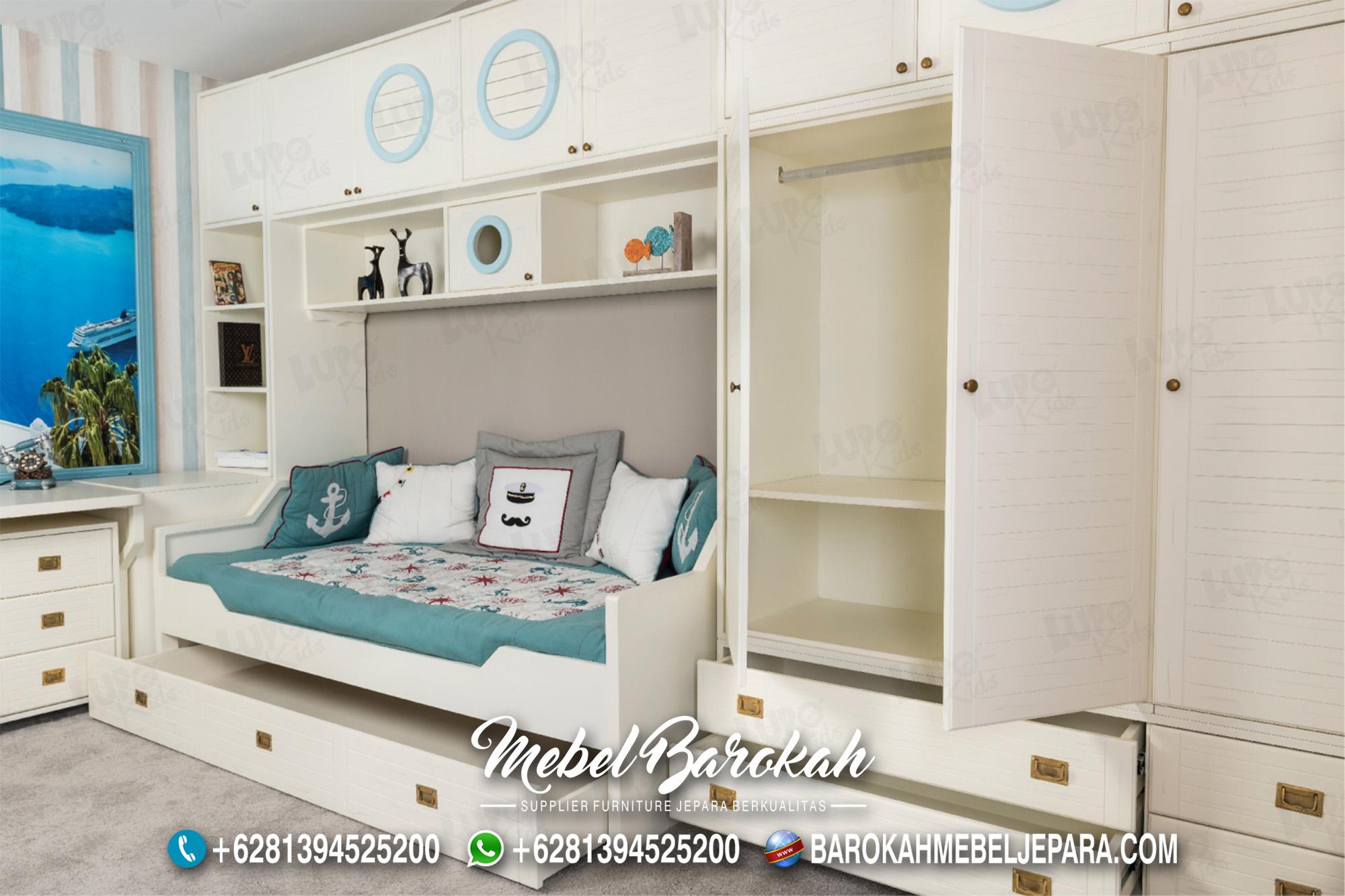 Inspirasi Desain Kamar Anak Minimalis Warna Putih Soft Mewah MB-591