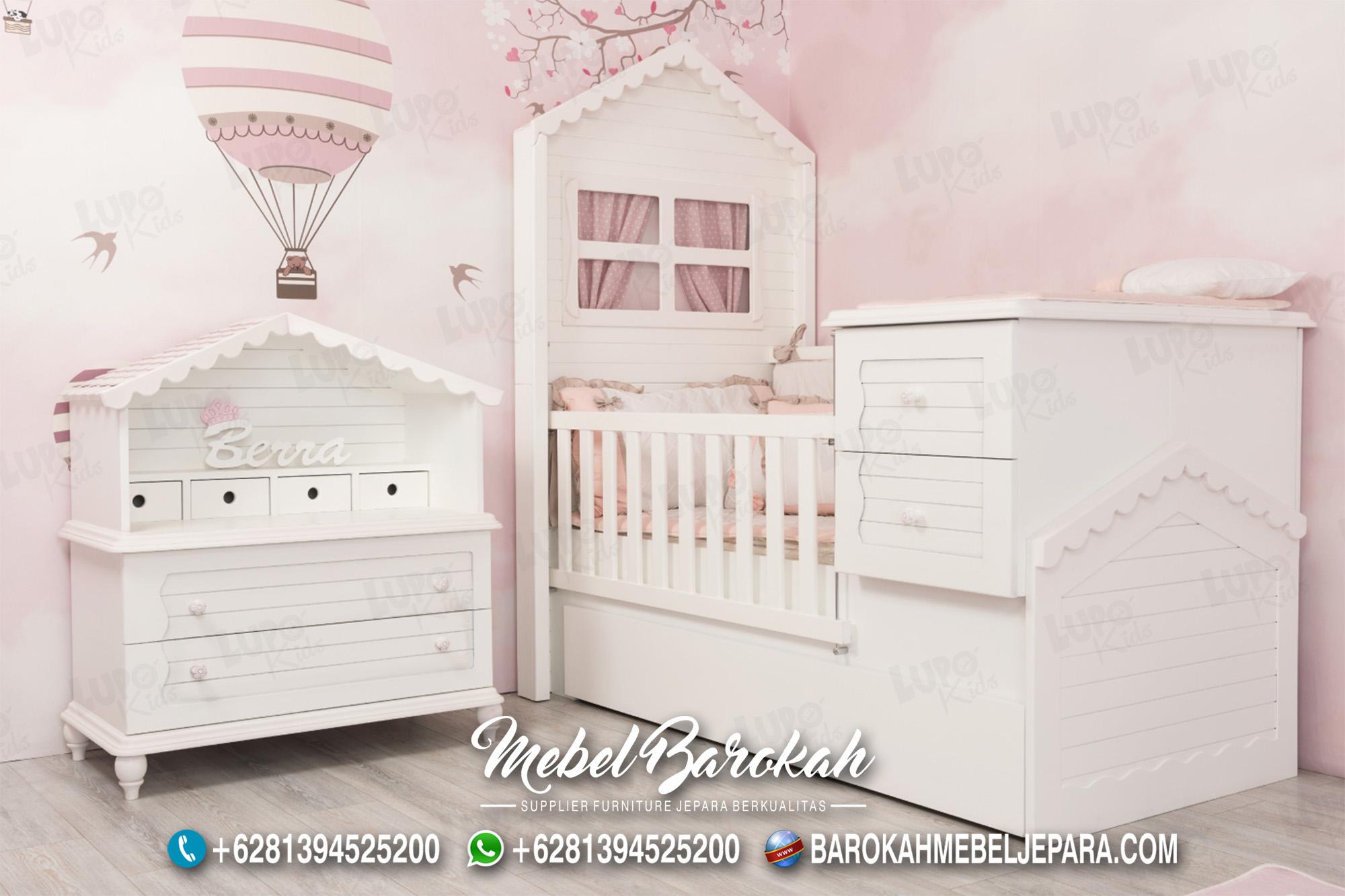 Terbaru Kamar Bayi Perempuan Nuansa Pink Putih MB-601