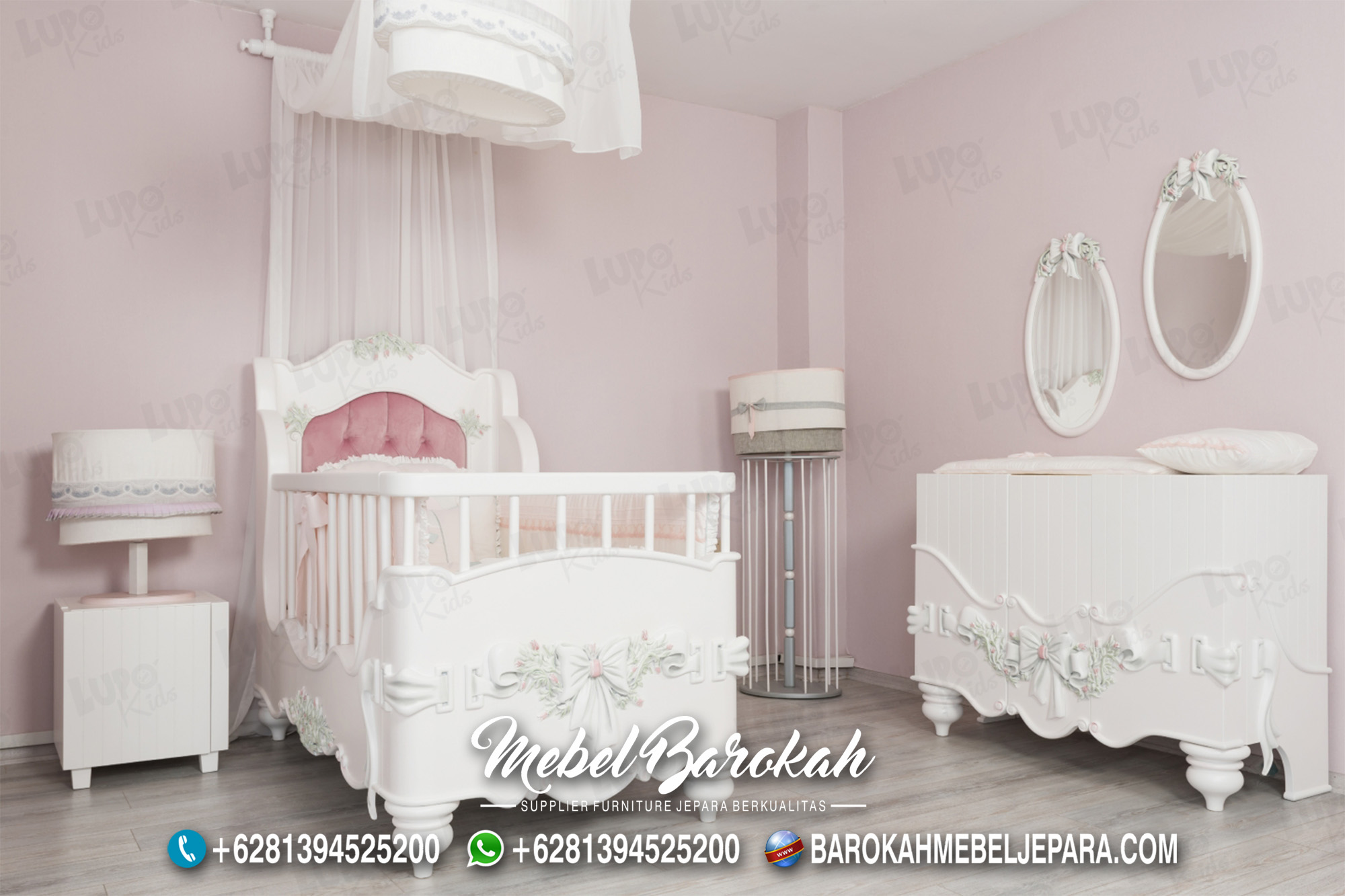 Kamar Tidur Bayi Motif Ukir Bunga MB-606