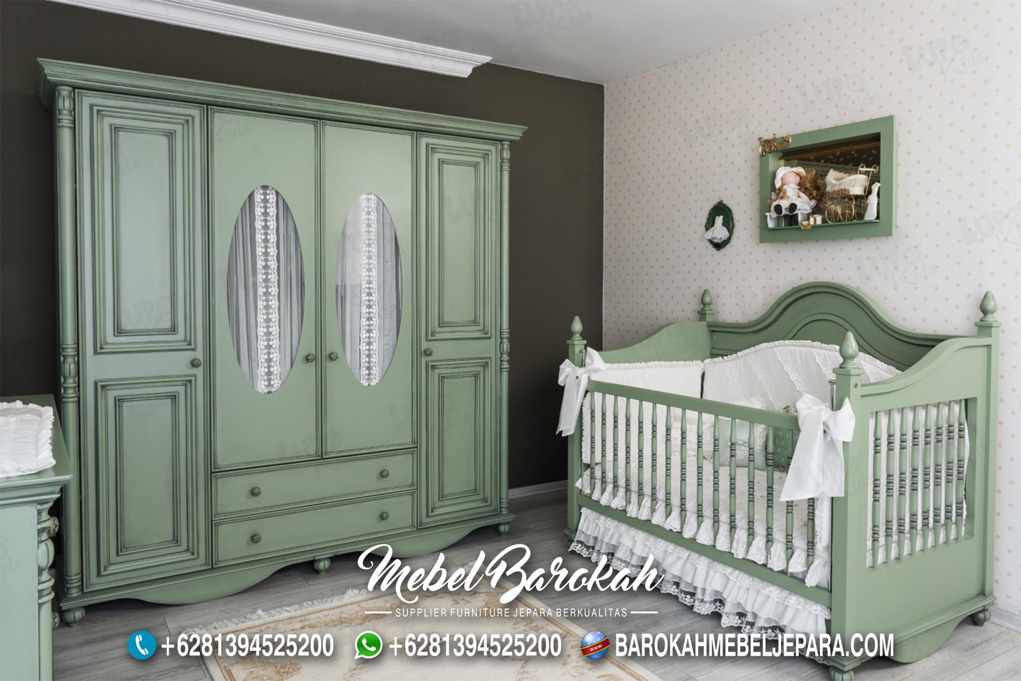 Set Kamar Tidur Bayi Laki Laki Warna Hijau MB-608