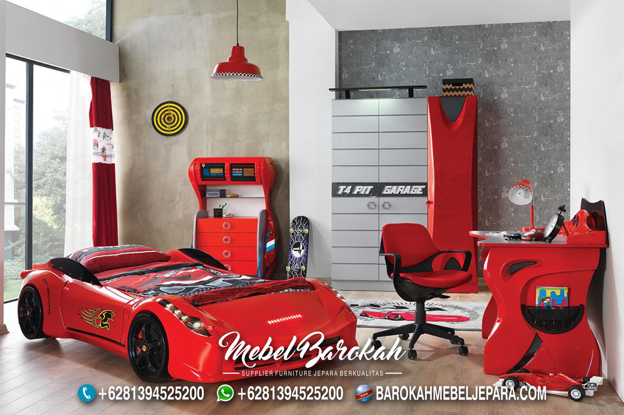 Desain Kamar Anak Mobil Ferrari Warnan Merah MB-611