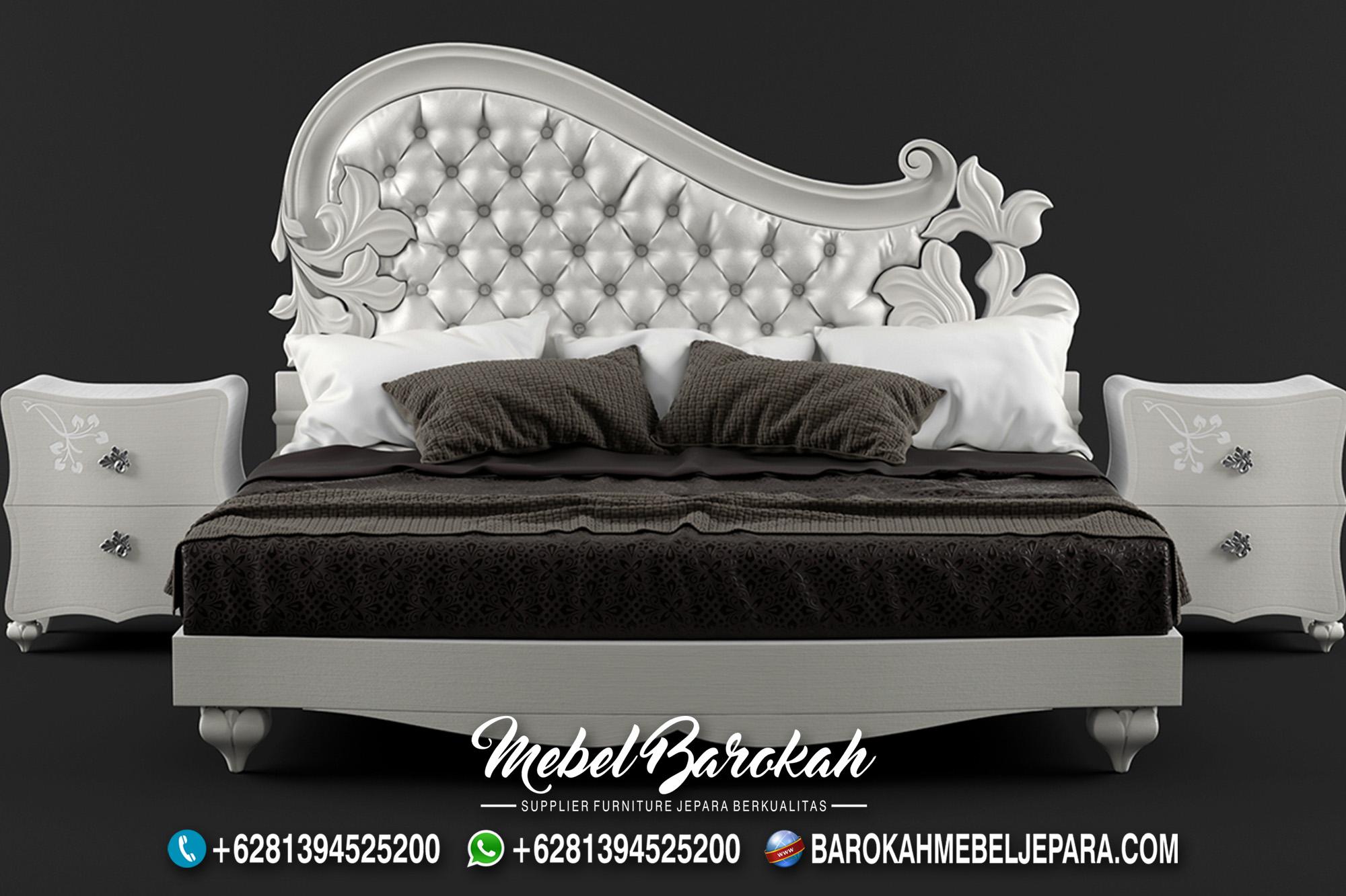 Jual Tempat Tidur Jepara Elegan White Colour Terbaik MB-621