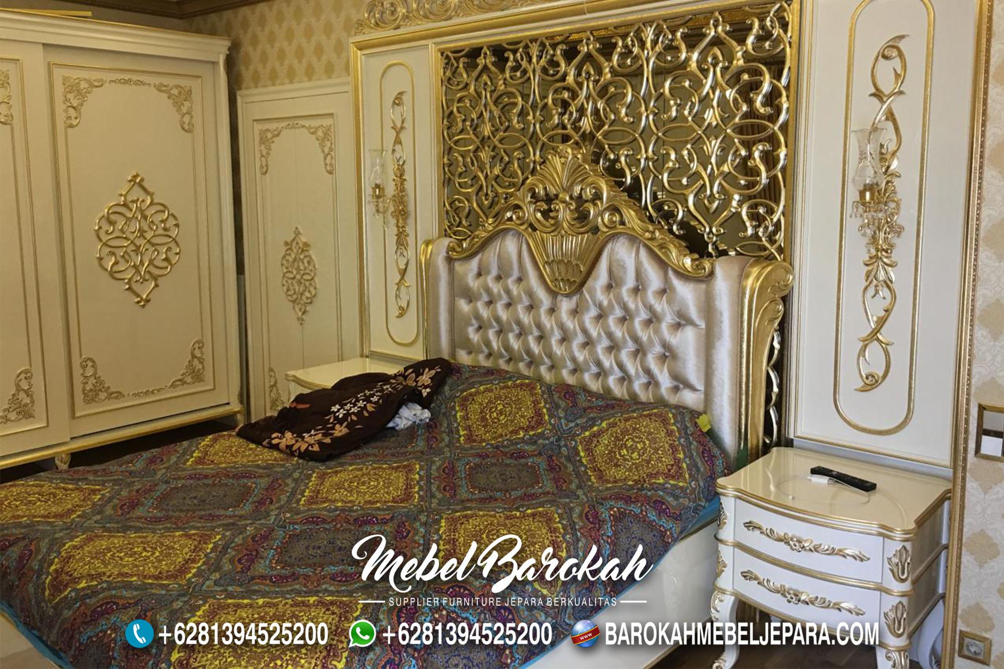 Kamar Set Klasik Putih Ukir Emas Glamor MB-628