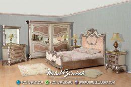 Kamar Tidur Klasik Ukir Modern Warna Pink Soft MB-648