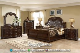 Best Bed Set Teak Wood Casual Brown MB-663
