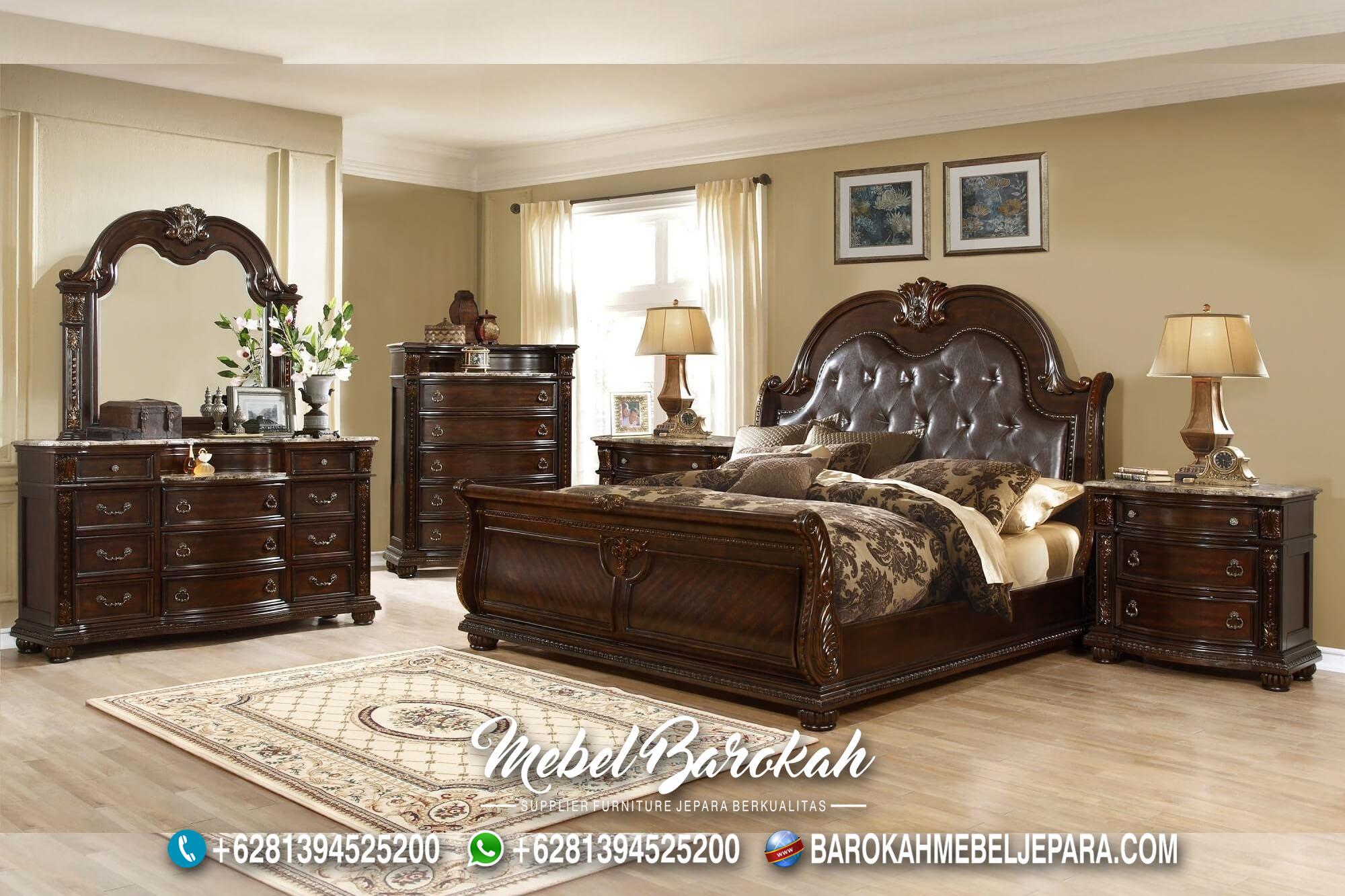 Best Bed Set Teak Wood Casual Brown MB-663