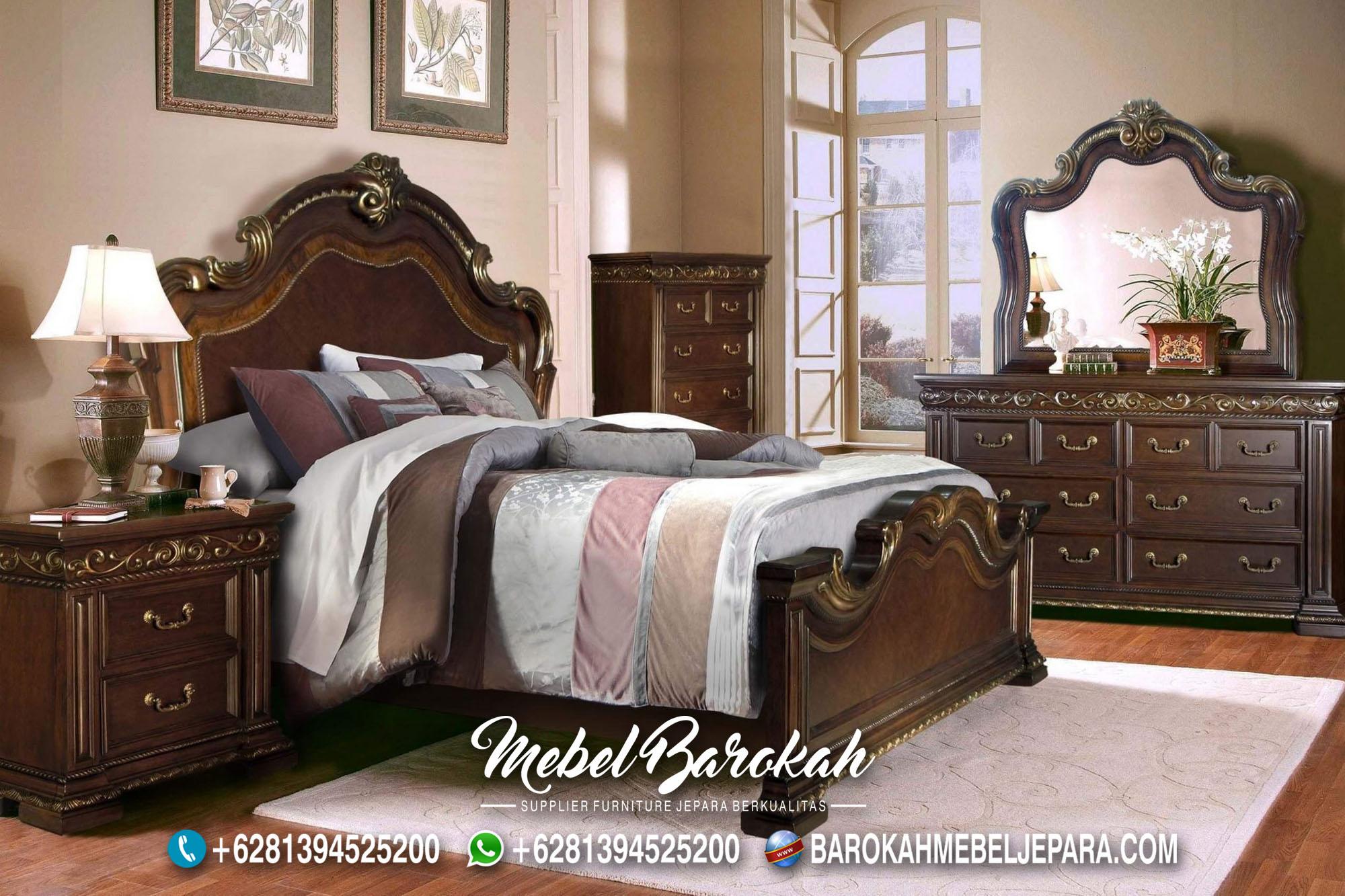 Tempat Tidur Klasik Kayu Jati Jepara MB-679