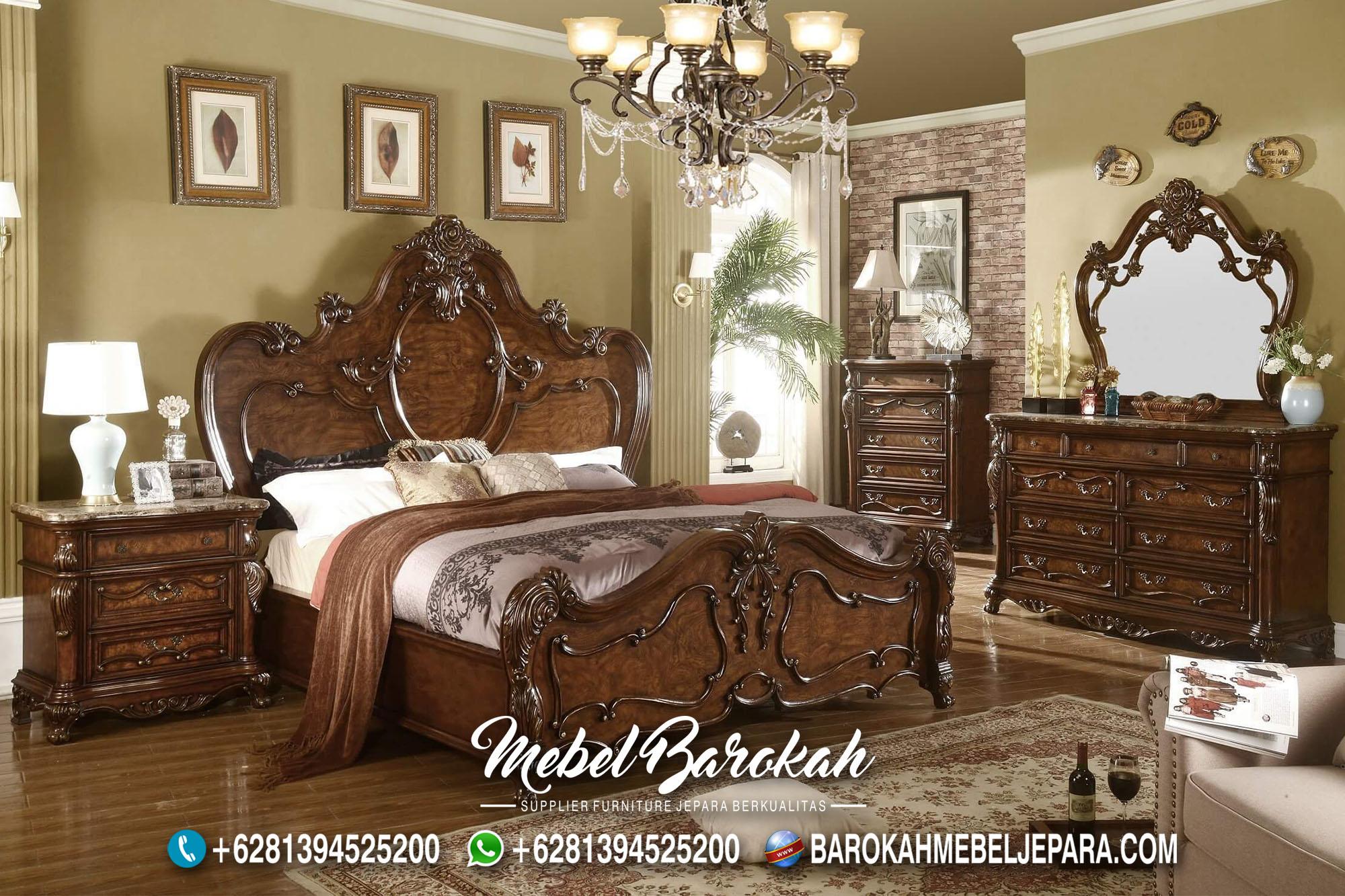 Jual Bed Set Natural kayu Jati Ukir Jepara MB-680