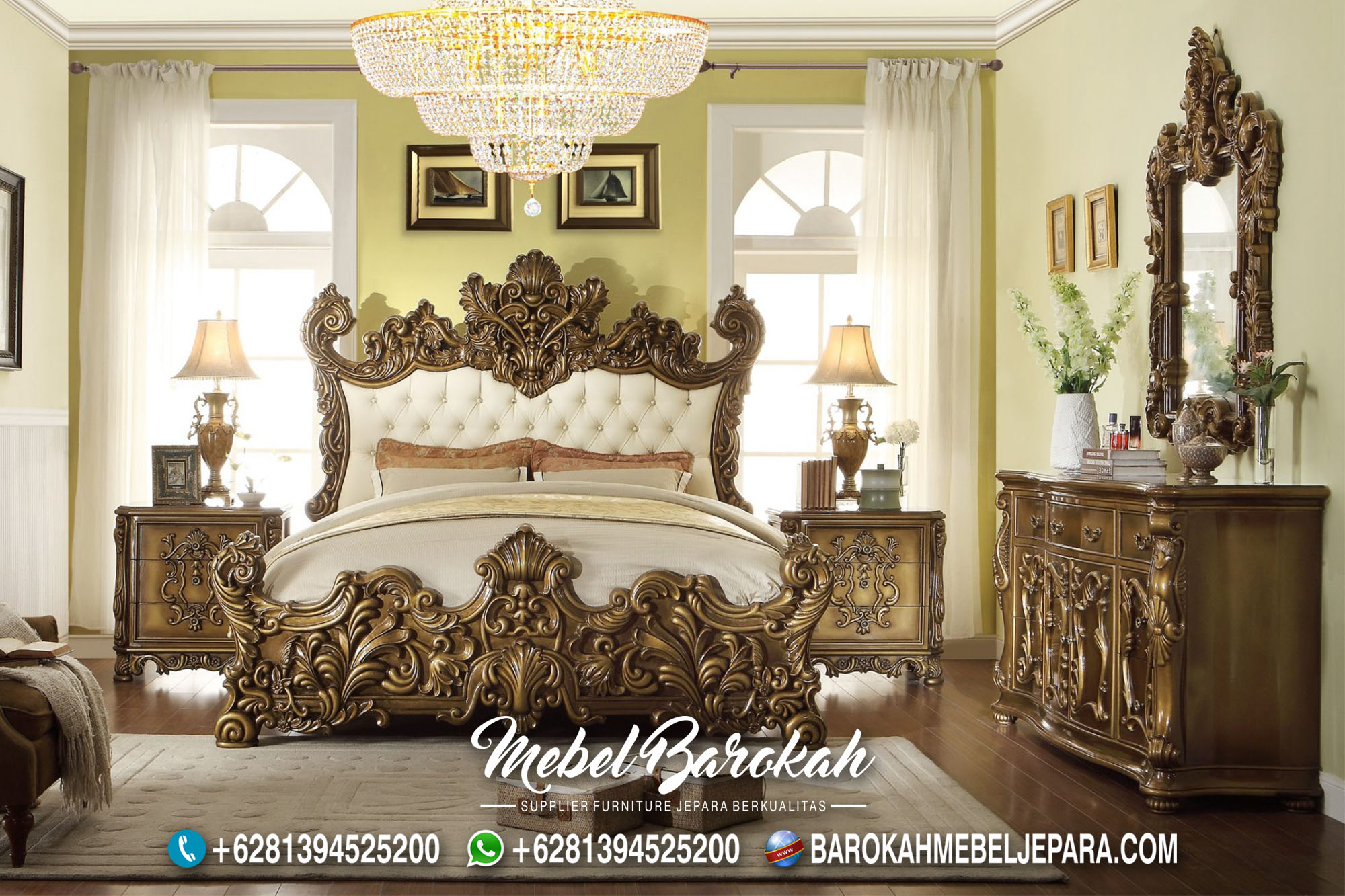Bedroom Italian Luxury Casual Ukir MB-694