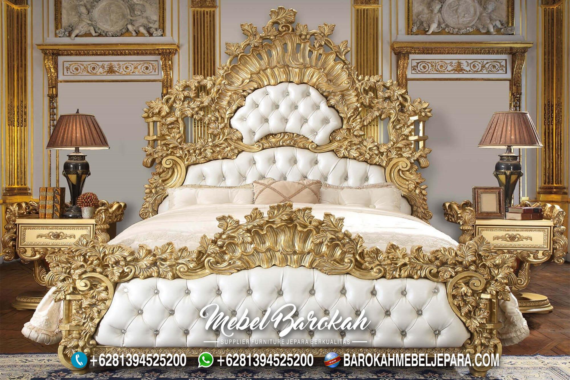 Best Model Tempat Tidur Ukir Gold Termewah Terbaik MB-700