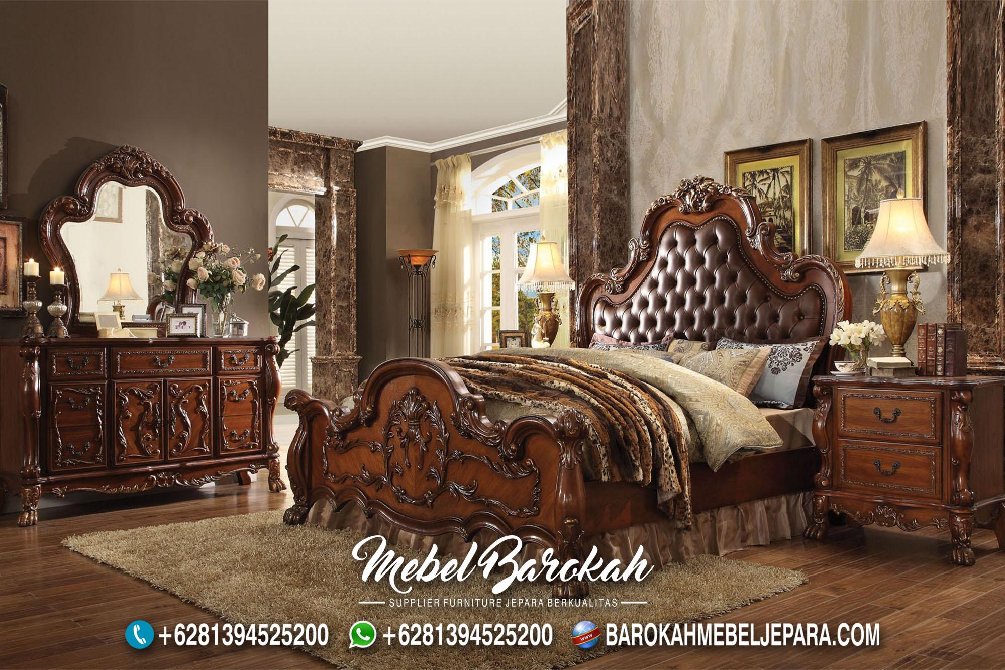 Jual Tempat Tidur Ukir Kayu Jati Berbagai Model MB-730