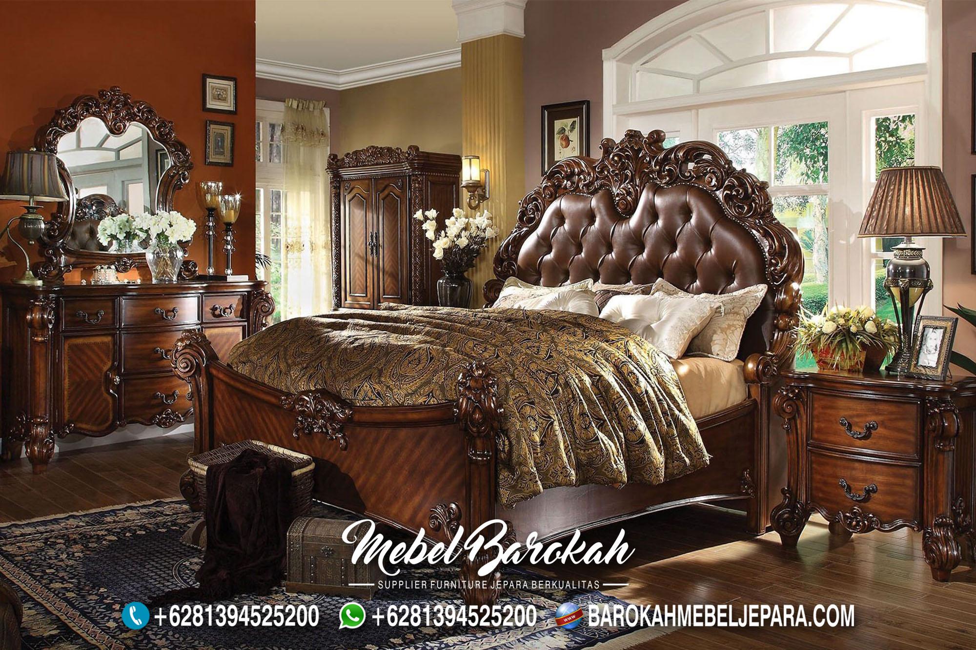 Best Model Kamar Set Klasik Warna Coklat MB-740