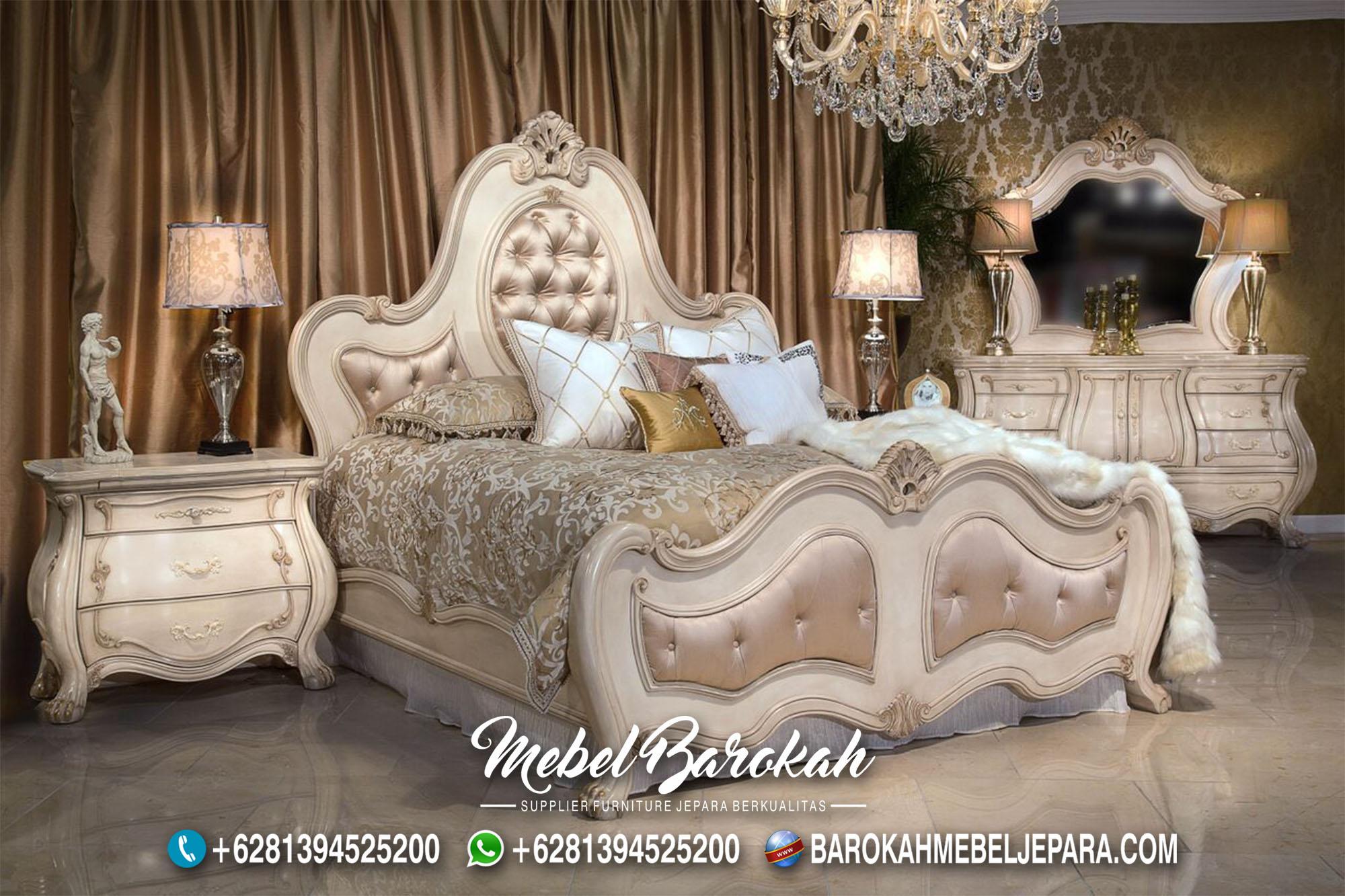 Tempat Tidur Feminim Klasik Ukir Jepara MB-743