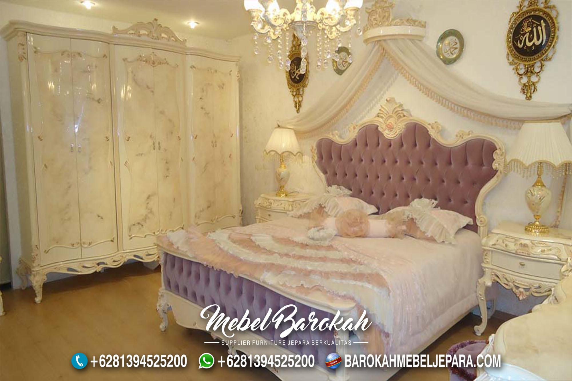 Jual Kamar Tidur Putih Motif Marmer MB-708