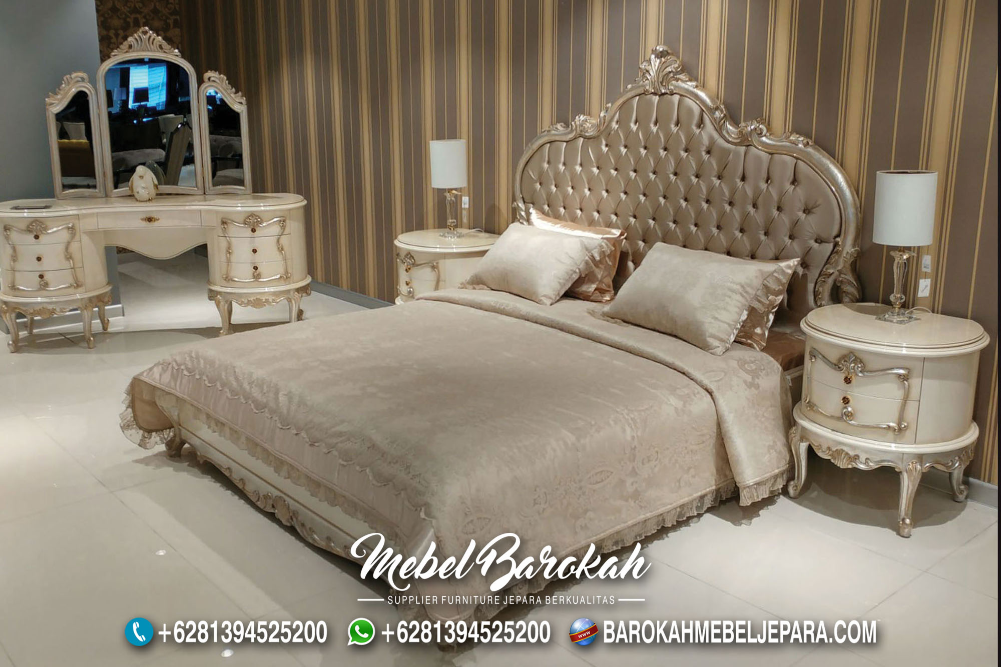 Desain Tempat Tidur Ukir Simple Elegan MB-712