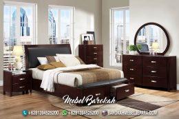 New Tempat Tidur Minimalis Modern Brown Walnutt MB-720