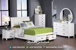 Jual Tempat Tidur Minimalis Duco Putih MB-721