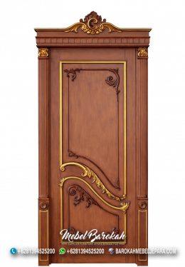 Pintu Rumah Ukiran Kayu Jati Natural Mewah MB-758