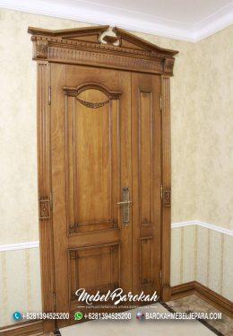 Set Kusen Pintu Kayu Jati Natural Sederhana MB-763