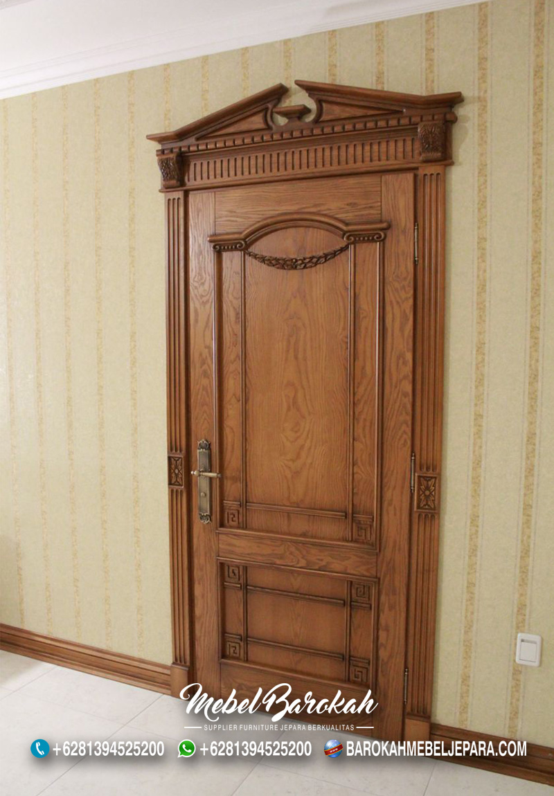 Pintu Jati Natural Untuk Kamar Rumah Klasik MB-765
