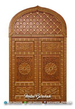 Pintu Masjid Kayu Jati Blora Natural MB-746