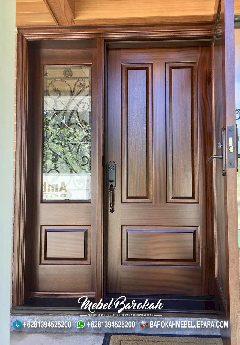 Pintu Panel Kayu Solid Mahogani Casual MB-837