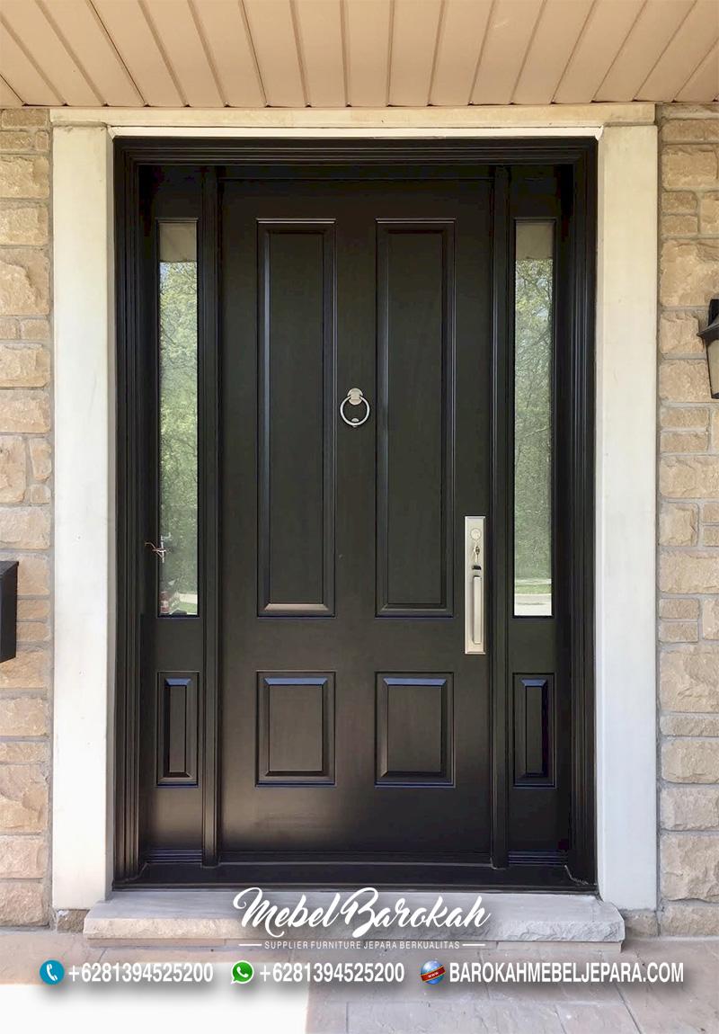 Pintu Kayu Custom Minimalis Simple Warna Gelap MB-840