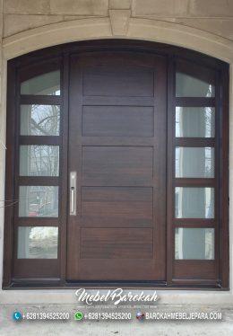 Pintu Rumah Utama Lengkung Besar Tea Brown MB-843