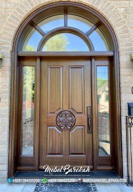 Pintu Rumah Melengkung Dengan Ukiran Rosette MB-847