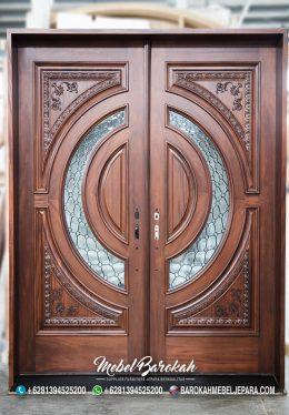 Pintu Rumah Tiffany Ukiran Custom Model MB-850